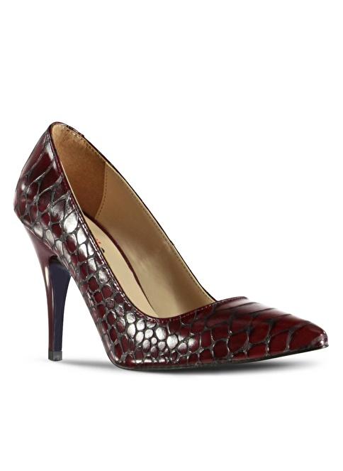 Marjin Topuklu Ayakkabı Bordo